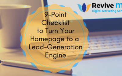 9-Point Checklist to Turn Your Homepage to a Lead-Generation Engine