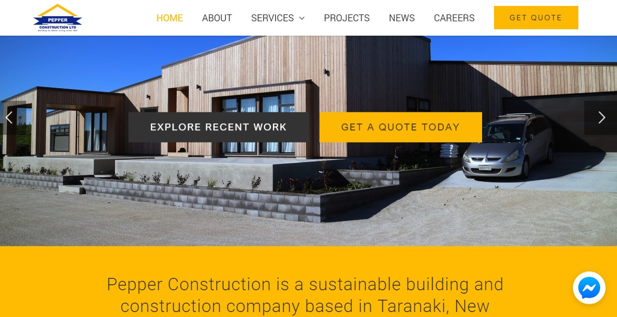 Pepper construction-Get Digital Marketing client